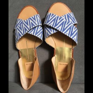 Dolce Vita leather and fabric sandals